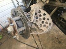 Schaden ATV-Bremsanlage Stockfoto