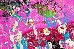 Schaden der gemalten Wand Stockbild