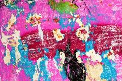 Schaden der gemalten Wand Stockfotos