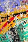 Schaden der gemalten Wand Lizenzfreie Stockfotografie