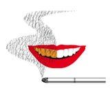 Schaden vom Rauchen stock abbildung