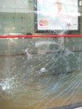 Schaden von den Aufständen, Patra Griechenland lizenzfreie stockfotografie
