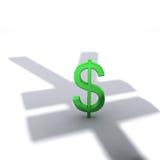 schadow renminbi доллара Стоковое Изображение