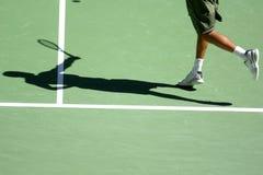 Schaduw 08 van het tennis Stock Foto's
