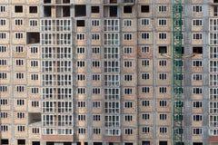 Schaduw die op een nieuw gebouw vallen Royalty-vrije Stock Foto