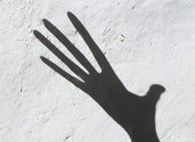 Schaduw door hand Stock Foto's