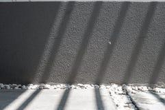 Schaduw en licht op grijze textuur Stock Foto