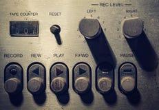 Schaduw en schaduw van klassieke, uitstekende volumecontroles Stock Foto