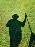 Schaduw in het gras Royalty-vrije Stock Foto
