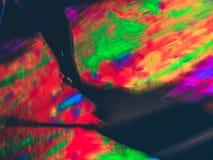 Schaduw onder kleuren Stock Foto