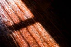 Schaduw op houten achtergrond Royalty-vrije Stock Afbeelding