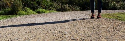 Schaduw over een weg Royalty-vrije Stock Foto