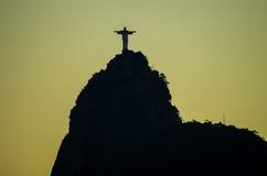 Schaduw van Christus de Verlosser in Rio Royalty-vrije Stock Foto