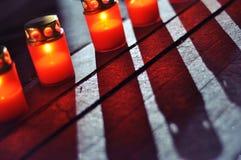 Schaduw van de kaarsen Royalty-vrije Stock Foto's