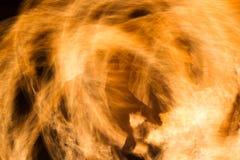 Schaduw van een mens op brand Stock Foto's