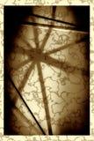 Schaduw van een paraplu met een zwart kader Stock Foto's
