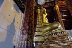 Schaduw van het Onderwerpen van Mara Buddha-beeld van Wat Nah Phramen Stock Afbeeldingen
