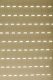 Schaduw van het vensterblind op het neutrale gordijn Royalty-vrije Stock Afbeeldingen