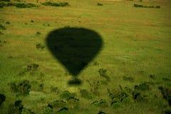 Schaduw van hete luchtballon Stock Afbeeldingen