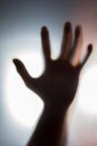 Schaduw van menselijk hand, spook en misdaadconcept Royalty-vrije Stock Foto