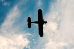 Schaduw van oud vliegtuig Royalty-vrije Stock Fotografie