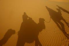 Schaduwen in de woestijn Stock Afbeelding