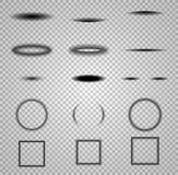 Schaduwen geplaatst die op transparante achtergrond worden geïsoleerd Vector Malplaatje Stock Foto