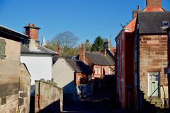 Schaduwen in het staffordshire dorp royalty-vrije stock afbeelding