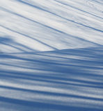 Schaduwen op onlangs gevallen sneeuw Royalty-vrije Stock Afbeeldingen