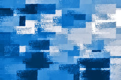 Schaduwen van blauw royalty-vrije illustratie