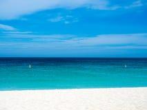 Schaduwen van Blauw bij strand royalty-vrije stock foto's