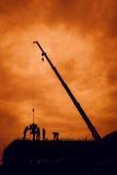 Schaduwen van huisbouw Stock Foto