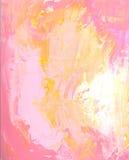 Schaduwen van Roze en Gele Achtergrond Royalty-vrije Stock Foto