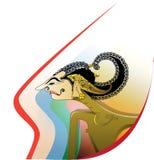 Schaduwmarionet stock illustratie