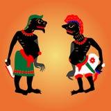 Schaduwmarionetten royalty-vrije illustratie