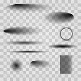 Schaduwreeks Vector illustratie EPS10 royalty-vrije illustratie