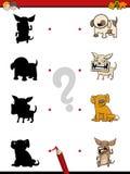 Schaduwspel met honden Royalty-vrije Stock Foto's
