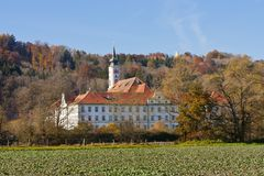 Schaeftlarn abbotskloster, Bayern, Tyskland Royaltyfri Fotografi
