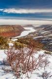 Schaf-Nebenfluss übersehen Ansicht von Green River stockfoto