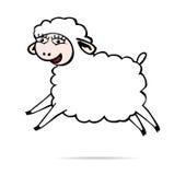 Schaf springt Lizenzfreie Stockfotos