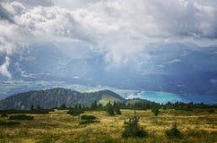 Schafberg, зона Salzkammergut, Австрия Стоковые Изображения