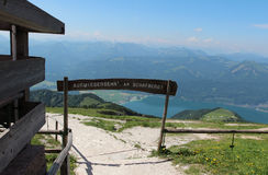 Schafberg near with Wolfgangsee Stock Photography