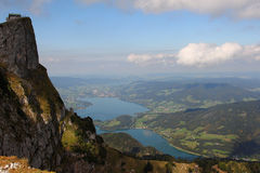 Schafberg near with Wolfgangsee Royalty Free Stock Photography