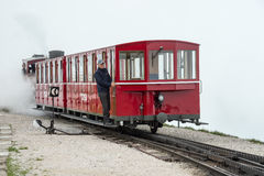 Schafbergbahn汽车 免版税库存照片