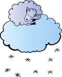 Schafe auf der Wolkenillustration Lizenzfreie Stockfotografie