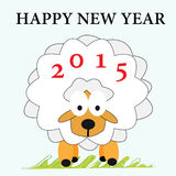 Schafe Grußkarte neues Jahr Lizenzfreies Stockbild