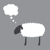 Schafe mit Traumblase Stockbild