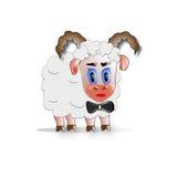 Schafe seriouse Mann Lizenzfreie Stockfotografie