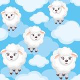 Schafe und Wolken Lizenzfreie Stockfotos