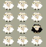 Schafe (Vektor) Stockbild